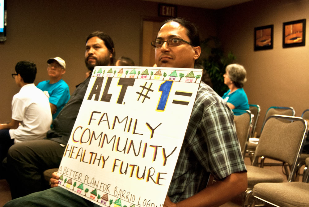 Hector Villegas' signs reads 'Alt #1  = Family Community Healthy Future.'