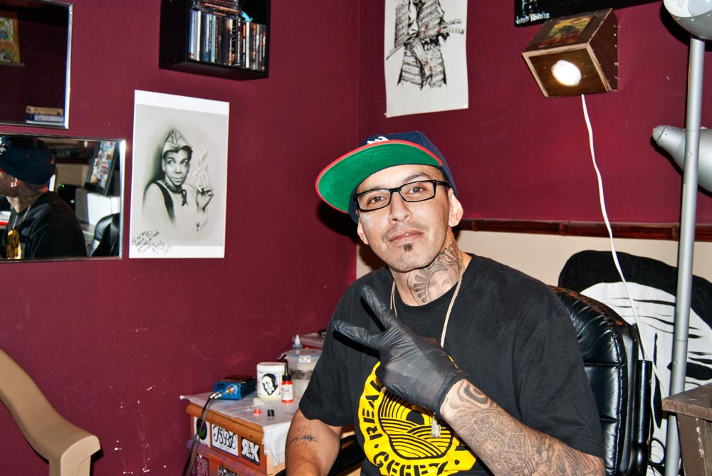 Portrait of local tatto artist